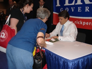 Governor Perry during the state republican convention