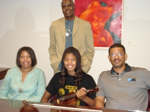 Jazz Education Founder Bubbha Thomas, Brianna and Her Parents