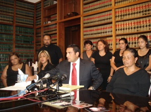 The Monroy Family and Their Attorney Johnny Garza