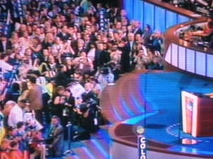 speaking to delegates
