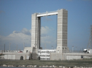 The Tidal Gate in Freeport - Part of the levee system