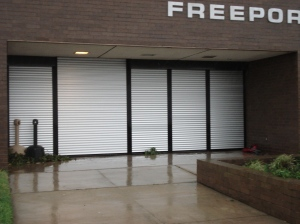 Storm Doors Protect Freeport Police