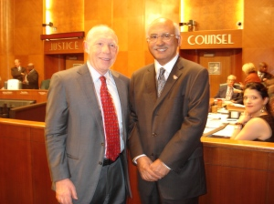 Mayor Bill White and Councilman M.J. Khan