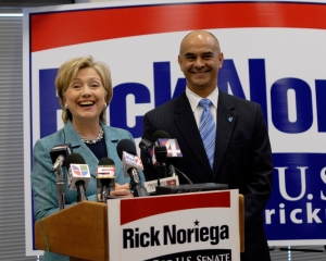 Senator Clinton and Noriega