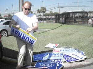 Democrats Replacing Signs