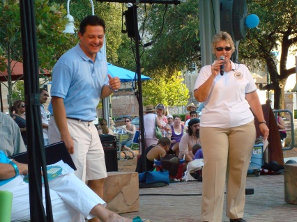 Mayor Annise Parker and Councilman James Rodriguez